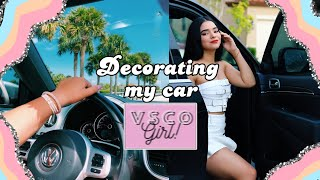 DECORATING MY CAR - giving my car a VSCO/PINTEREST makeover! | By Gaby