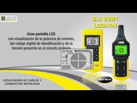 LOCALIZADOR DE CABLES ELECTRICOS CHAUVIN ARNOUX CA6681 LOCAT-N