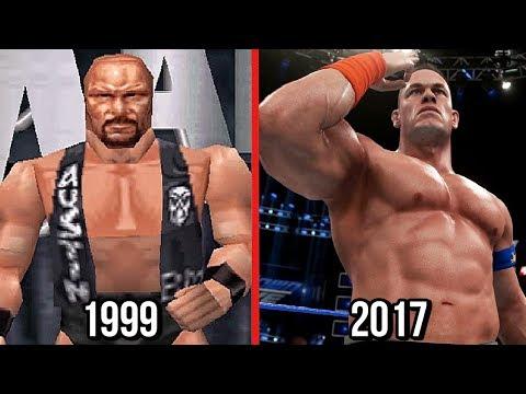 WWE 2K18 - The Evolution Of WWE Games Graphics! ( Wrestlemania 2000 To WWE 2K18 )