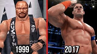 WWE 2K18 - The Evolution Of WWE Games Graphics! ( Wrestlemania 2000 To WWE 2K18 )