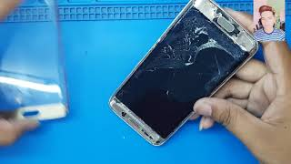Samsung Galaxy s6 edge front broken glass replacement without frizer machine