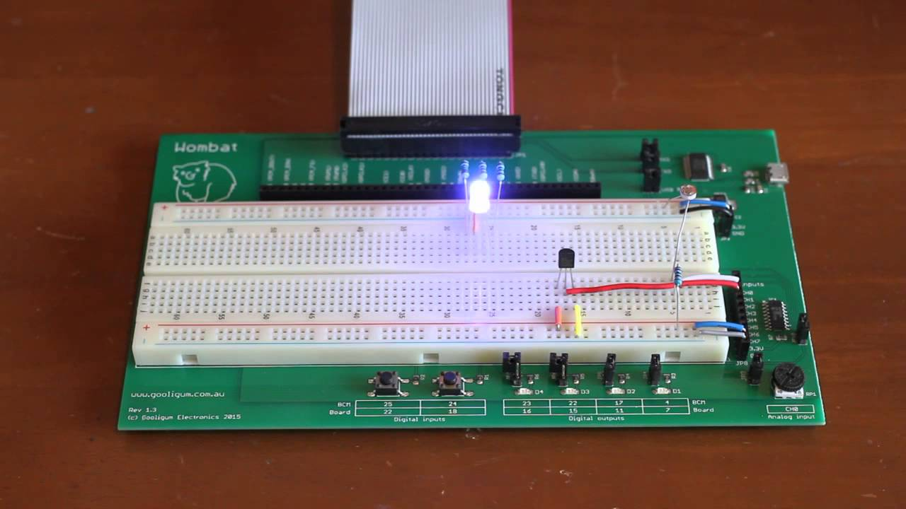 Temperature control of an RGB LED using a Raspberry Pi