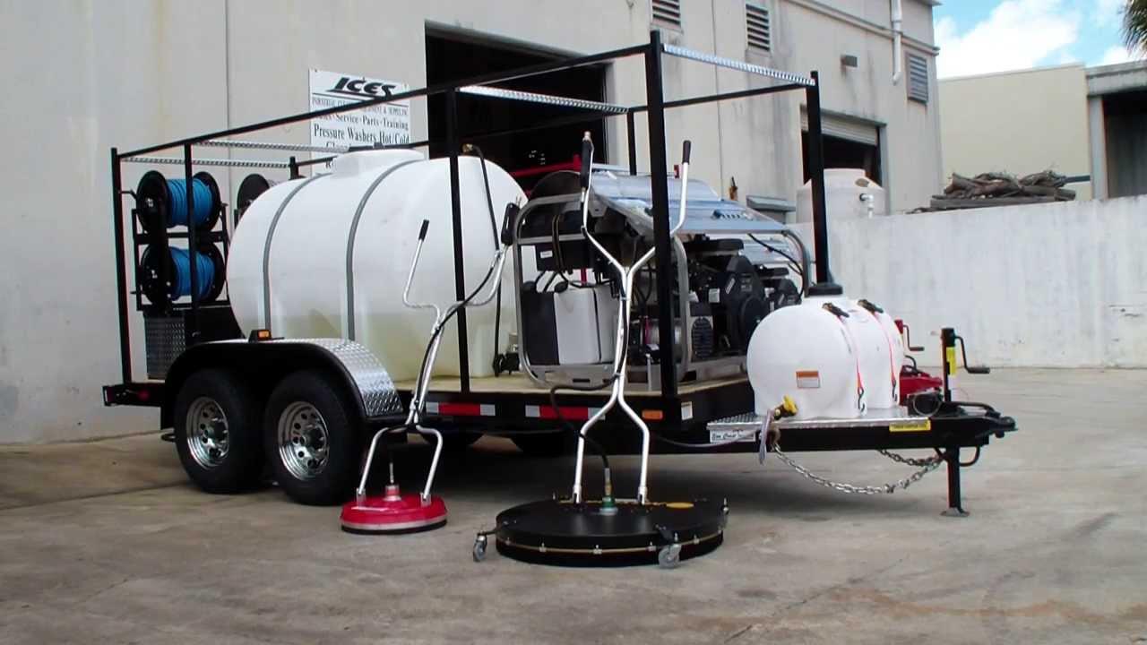 hydro tek psi 9 gpm hot water pressure washer 5u0027 x 14u0027 10k trailer dan swede
