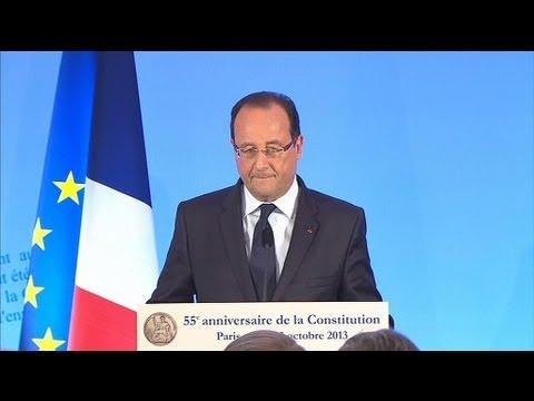 """Hollande: """"Je n'ai jamais été favorable à une VIe République"""" - 03/10"""