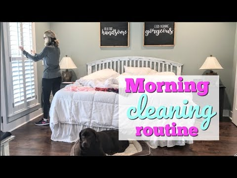 CLEAN WITH ME 2018 // MY MORNING CLEANING ROUTINE // RELAXING 15 MINUTE CLEANING