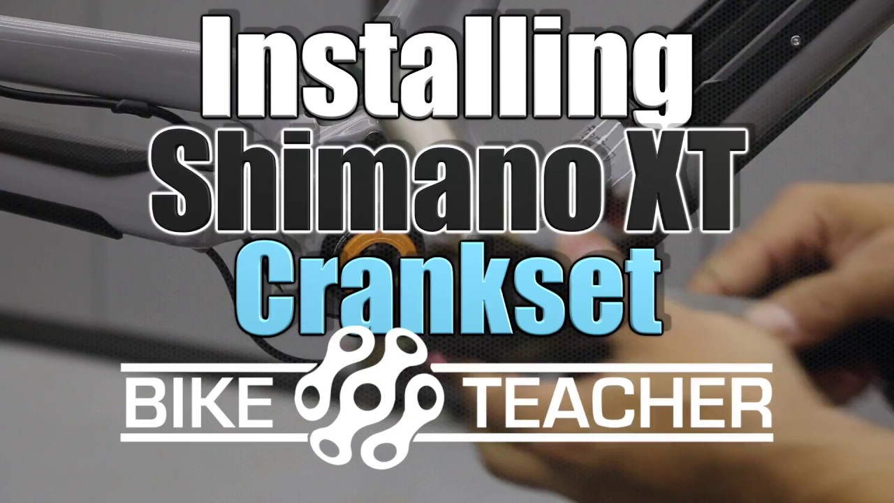 How to install SHimano XT crankset in with a Paxisworks bb into a OS