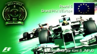 CBF 360 | F1 2012 World Championship | Season 10 - Round 6 : European GP (Gameplay/Commentary)