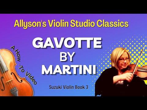Gavotte by Martini Practice video - Allyson's Violin Studio