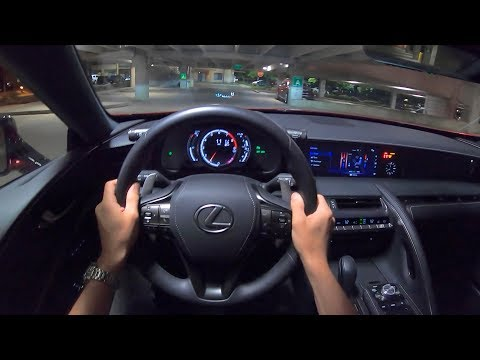 2019 Lexus LC 500 - POV Night Drive (Binaural Audio)