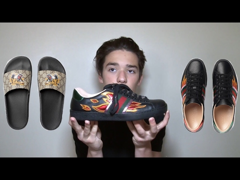 GUCCI SNEAKERS AND SLIDES/FLIP-FLOPS REVIEW | BIRTHDAY PICKUPS | HIGH-END FASHION/STREETWEAR