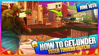 *NEW* HOW TO GET UNDER TILTED TOWERS - INSANE MAP GLITCH ON FORTNITE! (Fortnite Glitches June 2018)