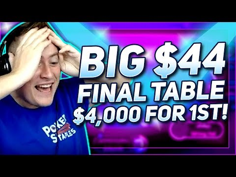 $4,000 FOR FIRST PLACE!! BIG $44 FINAL TABLE | PokerStaples Stream Highlights