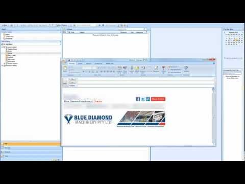 How to create an html email signature for outlook