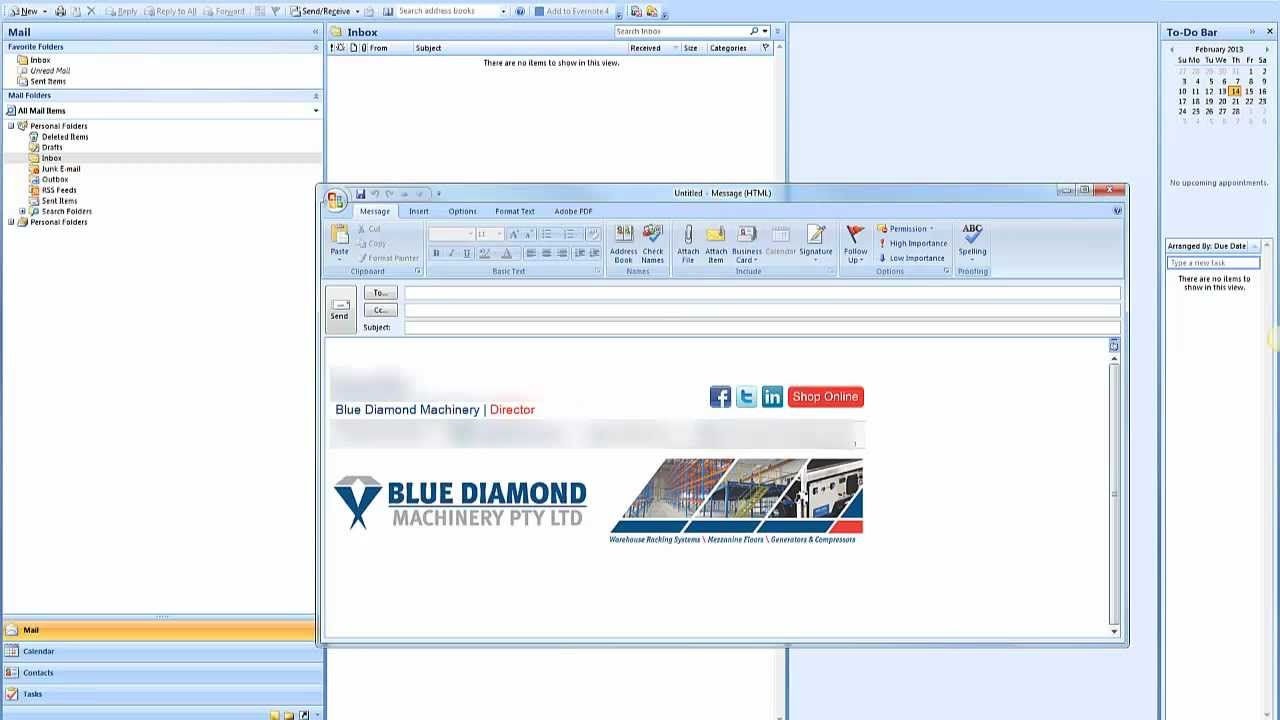 Professional Email Signature Template Outlook