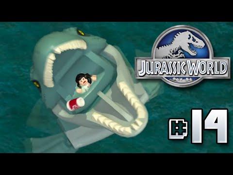 Mosasaur Feeding Time!! Jurassic World LEGO Game - Ep14