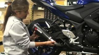 Yamaha R3 Slip-on Exhaust Scorpion  - Installation - AMAZING SOUND  Hardracing