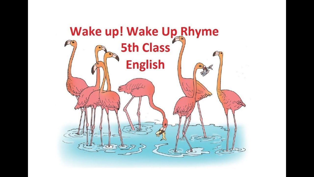 Wake up ! Wake Up! Rhyme, 5th Class, English, Unit 1, Flamingo Festival,  Page No  2 and 3