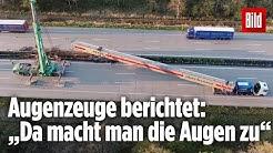 140 Tonner kracht in die Leitplanke der A2: Eine Dashcam filmt den Unfall