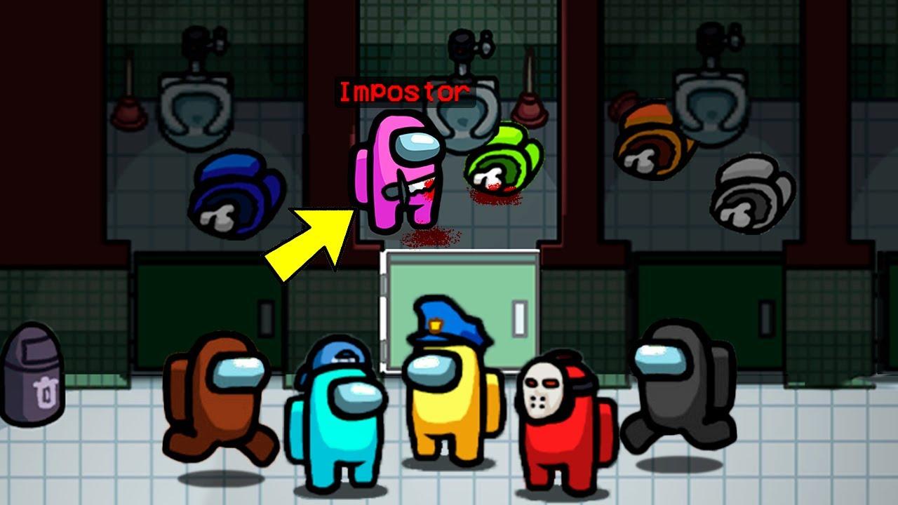 Download ¡Escondo el cadáver en el RETRETE! 😂 El impostor con peor suerte en Among Us