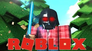 CHOPPING WOOD with a LIGHTSABER!! | Roblox Woodcutting Simulator