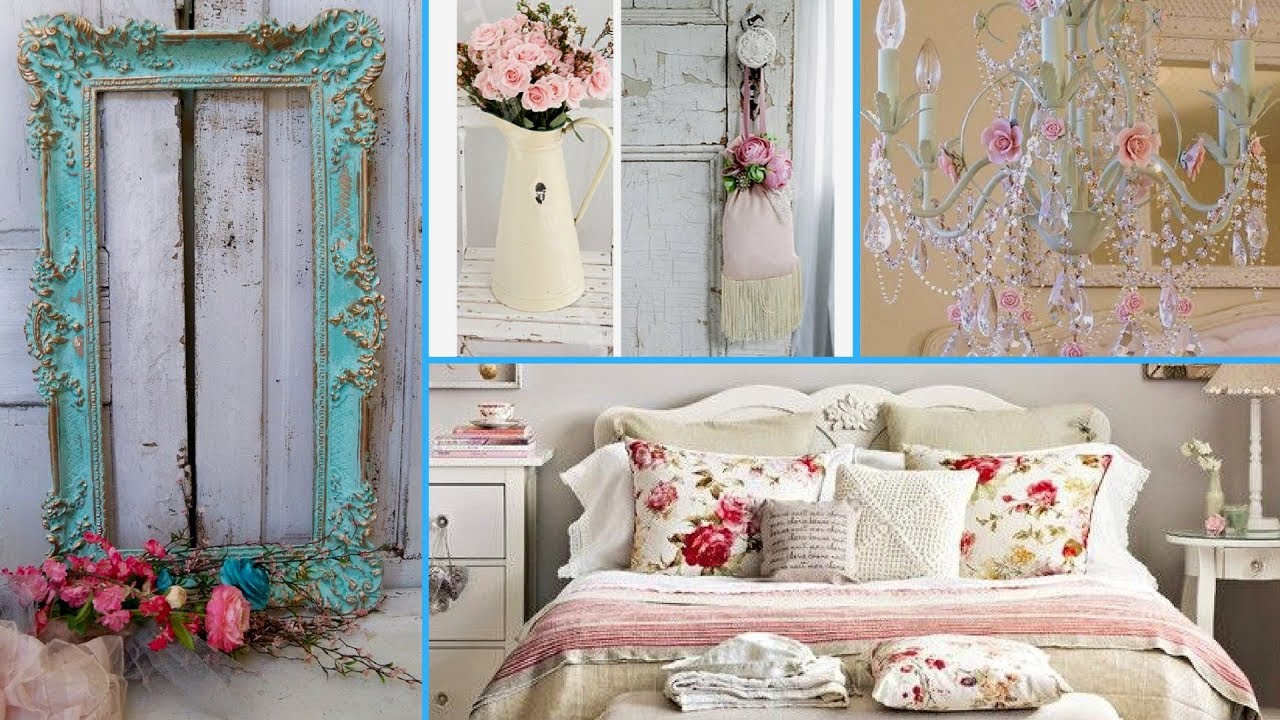 nice Country Chic Bedroom Ideas Part - 11: ❤How to DIY shabby chic bedroom decor ideas 2017❤| Home decor u0026 Interior  design| Flamingo mango