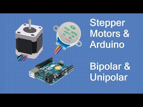 Stepper Motors with Arduino - Controlling Bipolar & Unipolar stepper motors