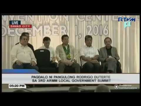 President Duterte attends 3rd Autonomous Region in Muslim Mindanao (ARMM) Local Government Summit