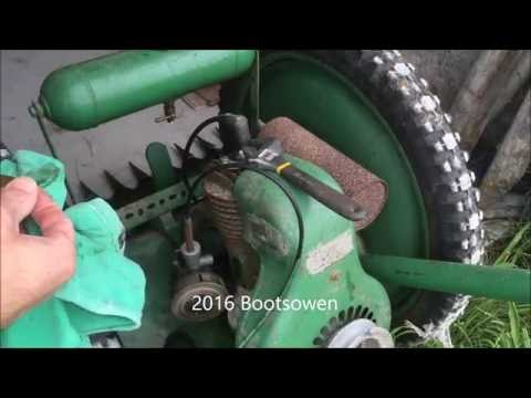 Oxford Allen Scythe cleaning carburettor and mowing