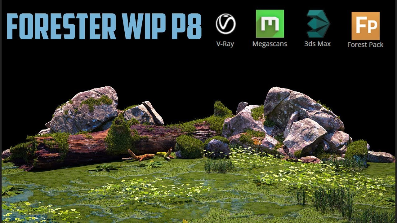 Environment creation with Vray, Megascans, 3dsmax and ForestPack  Part 1