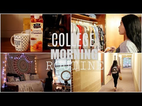 COLLEGE MORNING ROUTINE: FALL 2017 | JuicyJas