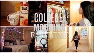 COLLEGE MORNING ROUTINE: FALL 2017 | JuicyJas
