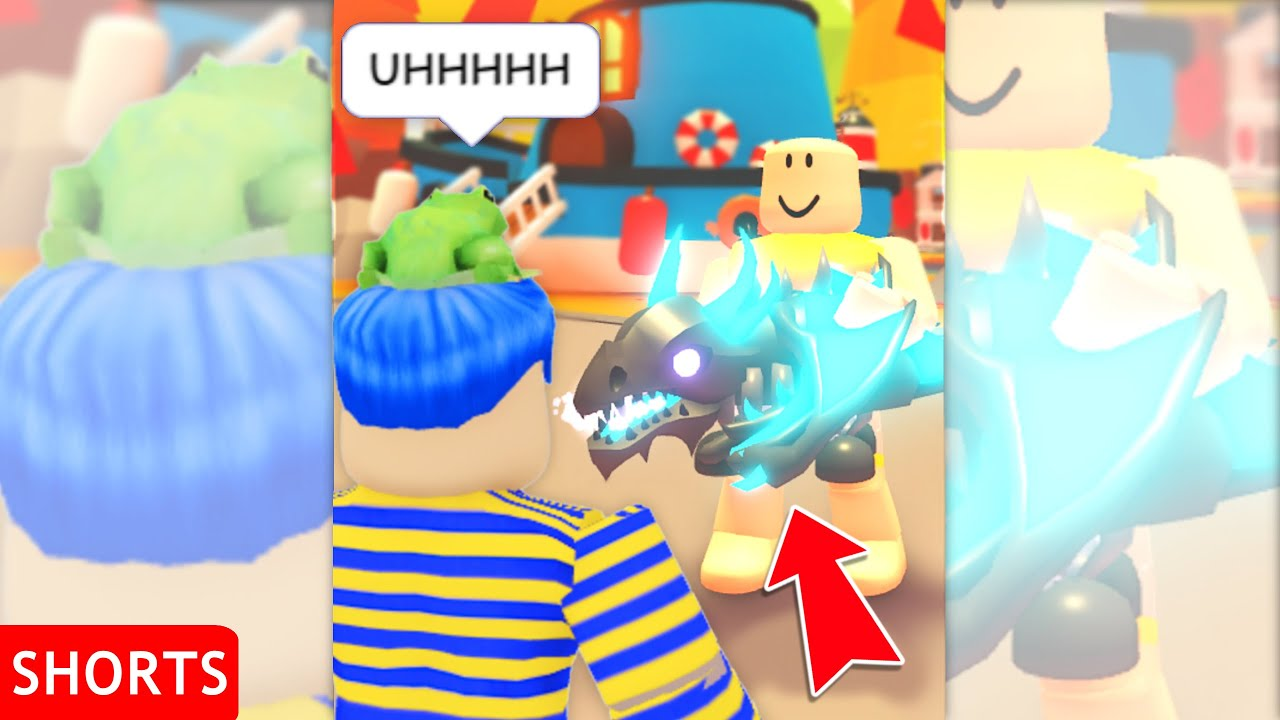 So I Taught A POOR NOOB How To FLEX In Adopt Me Roblox (BAD IDEA!!) #shorts