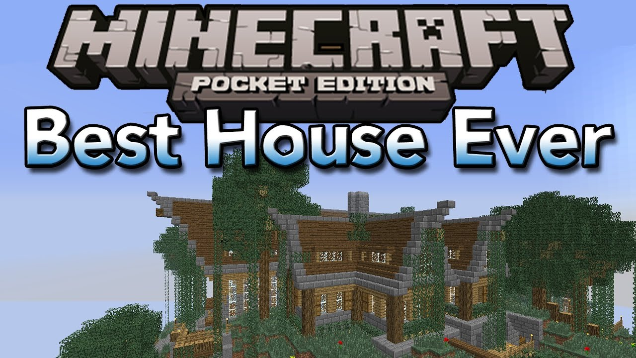 The best house in minecraft pocket edition imo keralis mountain house remake youtube