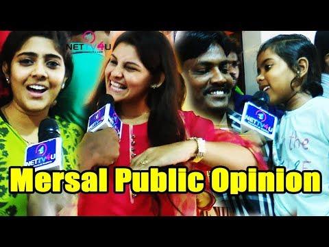 Mersal Public Review With Girls & Families At Kasi Theatre  FDFS   A Mass Marana  Mersal Diwali