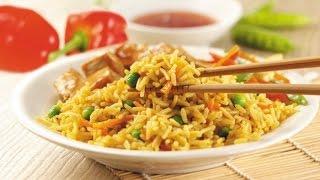 Рис с мясом и овощами. Сковорода. Рецепт.