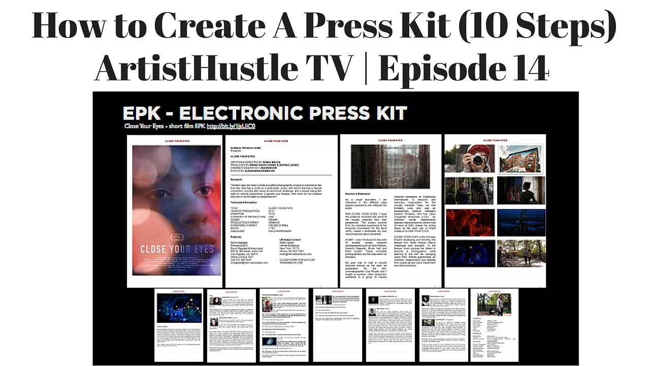 How to create a press kit for musicians artisthustle tv for Digital press kit template free
