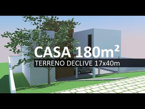 Casa De 180m No Terreno Em Declive Youtube