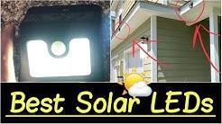 ☀️Best Solar LED Lights | Outdoor Flood Lights for Patios, Gardens, Decks, Car Garages, Fencing etc.