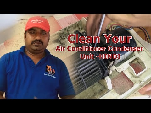 How to clean split air conditioner  indoor unit - HINDI