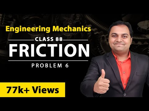 Problem no. 6 on Friction in Engineering Mechanics