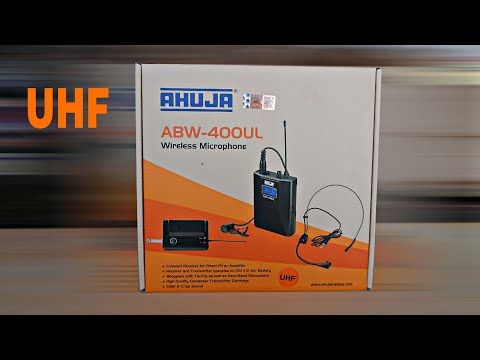 AHUJA ABW-400UL WIRELESS HEADSET  MICROPHONE UNBOXING & REVIEW