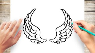 How to Draw Angel Wings Step by Step for Beginer