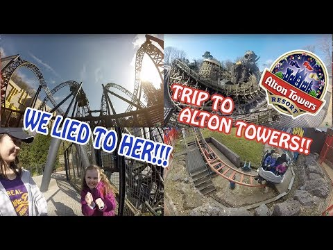 WE LIED TO HER!!!!!! ALTON TOWERS TRIP!! | VLOG #219