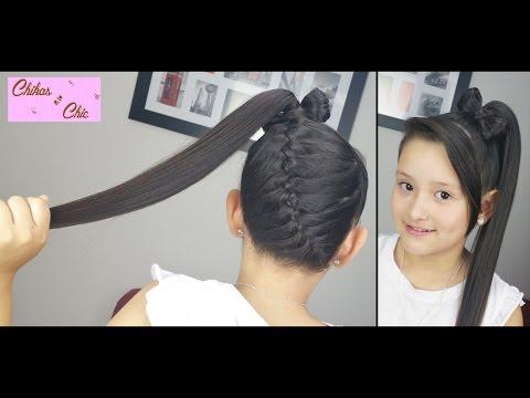 Diagonal Braid into a Ponytail Bow! | Braided Hairstyles | Hair Bow | Cute Girly Hairstyles