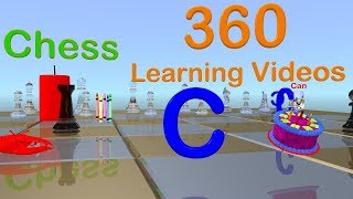 Learn C - 360° 3D Animated VR Kids Video