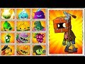 Plants vs Zombies 2 Every Plant Power UP and Mint Plant vs Brickhead Zombie - PVZ 2 Gameplay