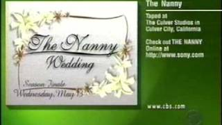 The Nanny: CBS Promo for The Wedding