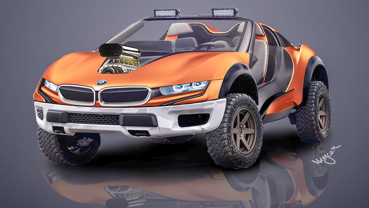 Bmw I8 Off Roader Virtually Modified Design Photoshop Youtube