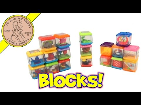 Fisher-Price 18 Peek-A-Boo Blocks Mixed Sets - Animals - Zoo - Circus