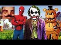 Hello Neighbor - My New Neighbor Spider-Man Joker Freddy Fazbear History Gameplay Walkthrough